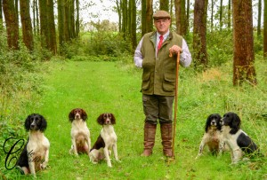 Iain with his dogs